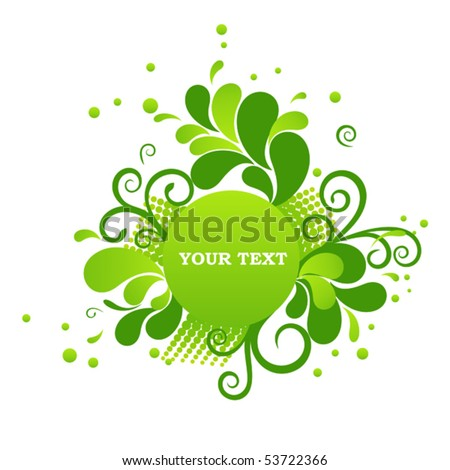 Colorful circle banner with floral ornament