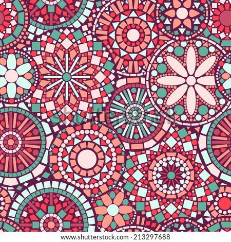 colorful circle flower mandalas