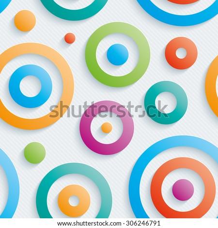 colorful circles walpaper 3d