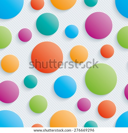 colorful circles walpaper 3d
