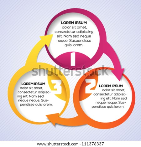 Colorful circular banner template for different business design. Vector illustration.