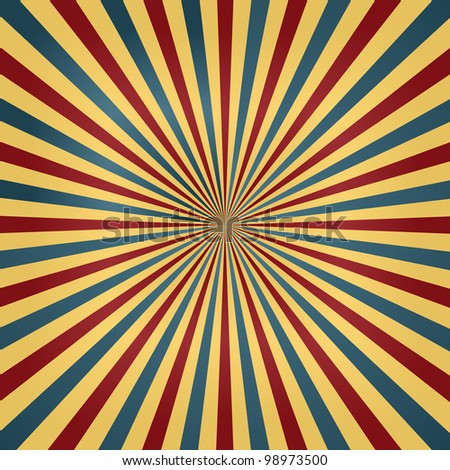 Colorful Circus Colors Sunburst Background