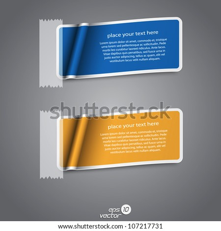 Colorful collection label. Vector