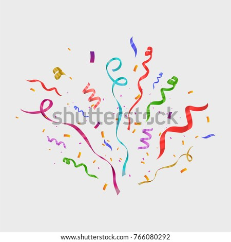 colorful confetti isolated