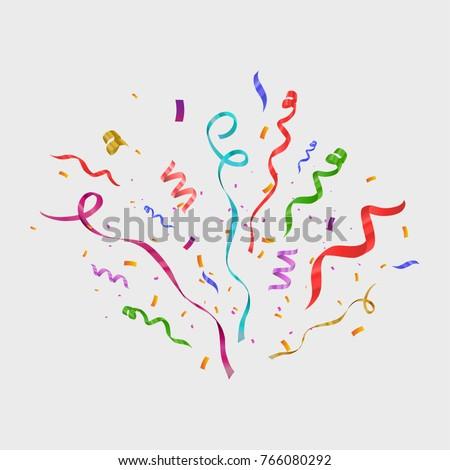colorful confetti isolated
