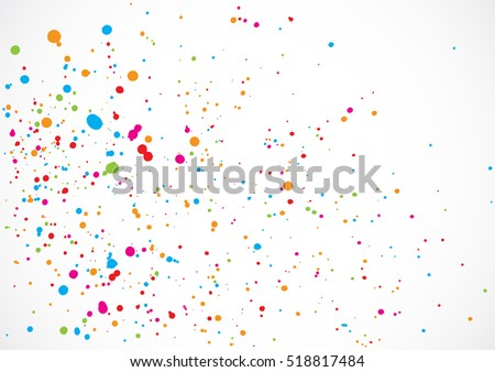 colorful confetti isolated on