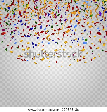 Shutterstock Colorful confetti on checkered background. Party and holiday, birthday carnival, decoration for celebration, festive event, design ribbon. Vector illustration template