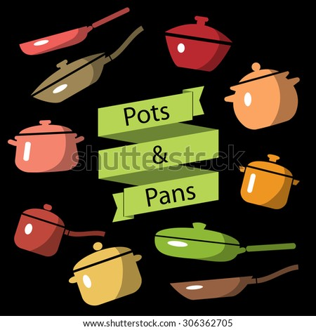 Pots and pans Stock Photos Royalty Free Pots and pans