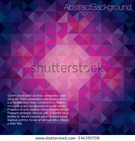 Colorful Cool Toned Triangles - Abstract Background - Vector EPS10