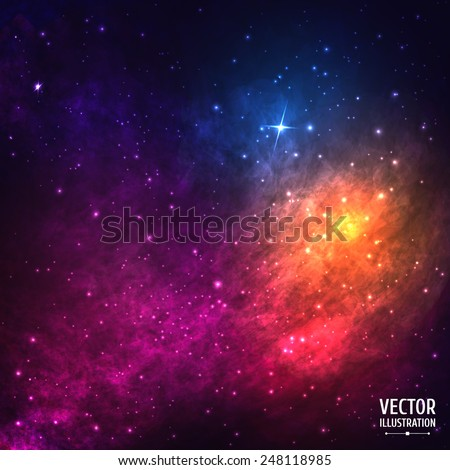 colorful cosmic background with