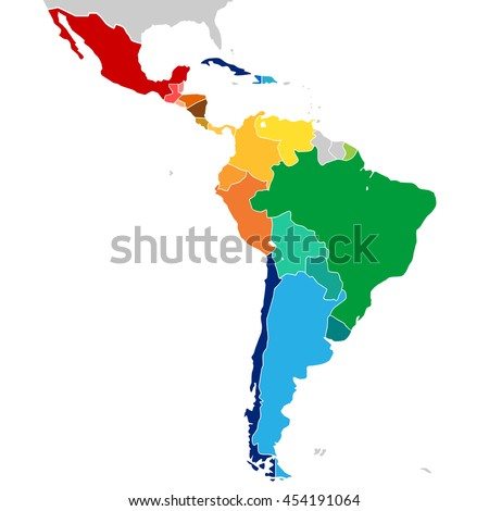 colorful countries of latin...