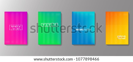 Colorful covers design. Minimal geometric pattern gradients. Eps10 vector. #1077898466