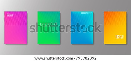 Colorful  covers design. Minimal geometric pattern gradients. Eps10 vector. #793982392