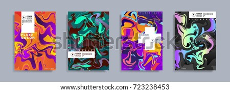 colorful covers design set