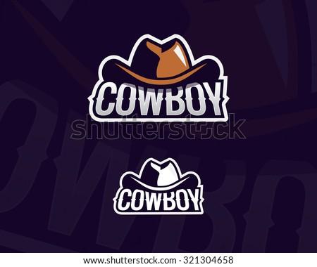 colorful cowboy hat emblem