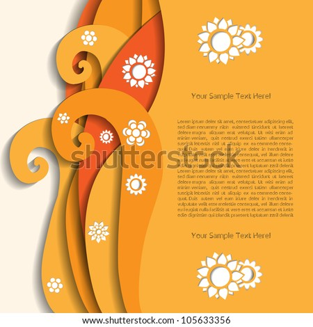 Colorful creative abstract business modern 3d vector speech bubbles with flower pattern