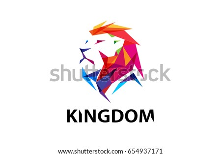 colorful creative lion head