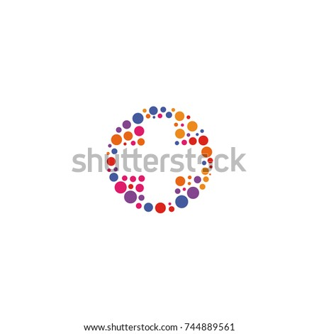 Colorful cross icon, unusual plus sign, abstract pharmacy icon.
