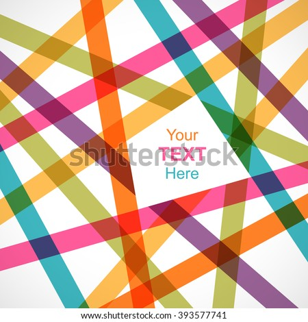 colorful crossed lines abstract