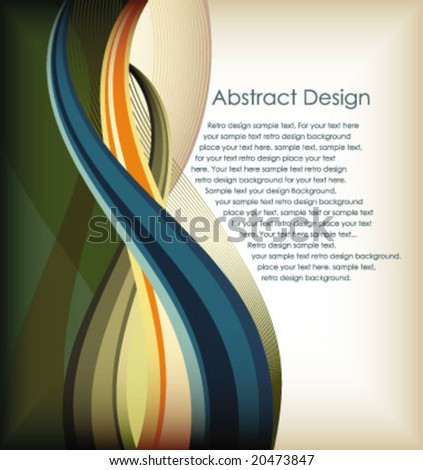 colorful curve lines movement background