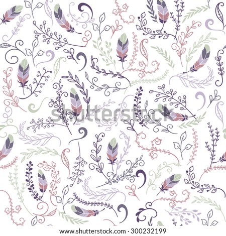 colorful cute seamless floral