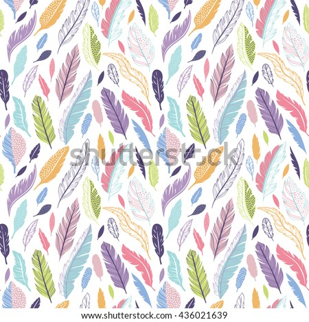 colorful cute vector seamless
