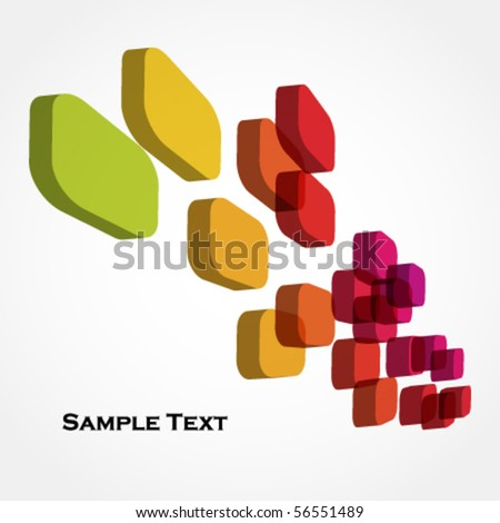 colorful 3d cubes - abstract background