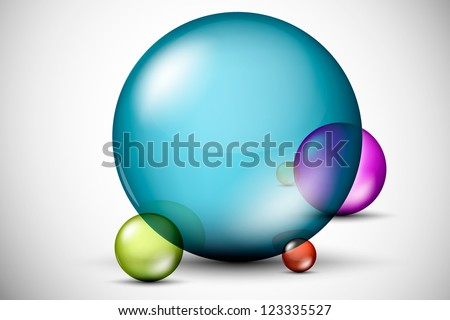 Colorful, 3D glass balls