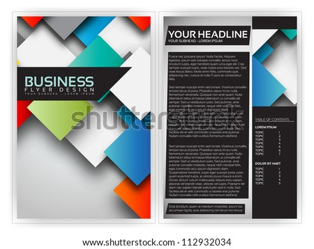 Colorful 3d squares business brochure template vector for 3d brochure design