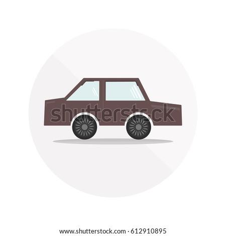 colorful dark cherry car icon