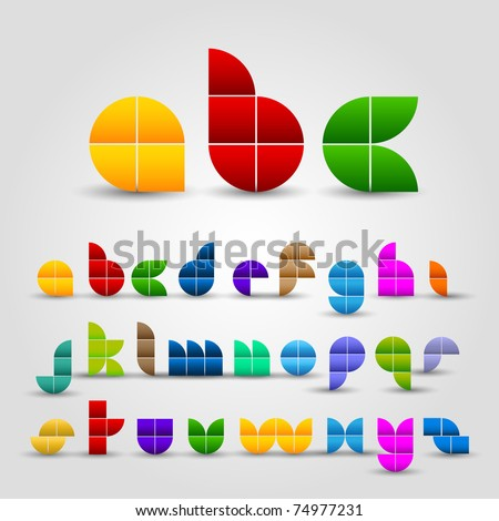 Colorful Decorative Alphabet Set