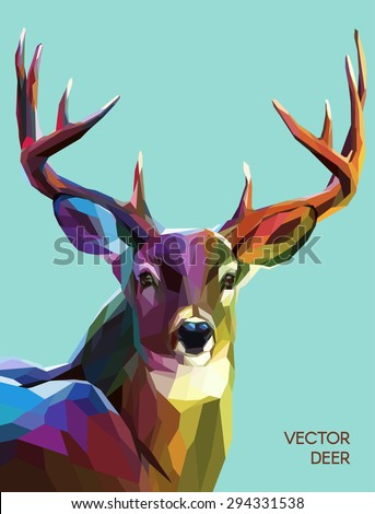 colorful deer illustration