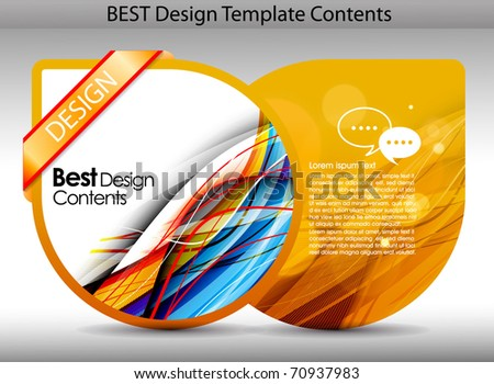 Colorful design template background.editable vector illustration