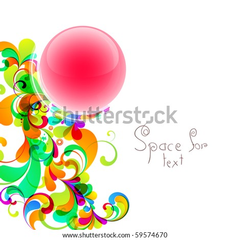 Colorful design with space for your message