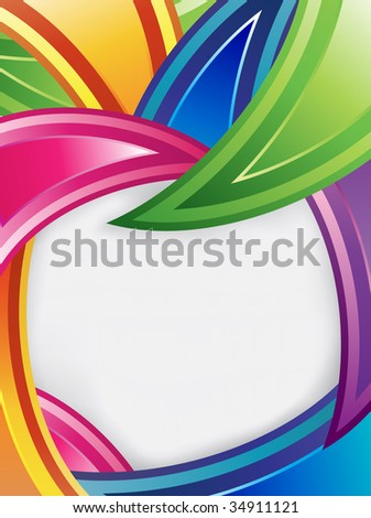 Colorful design with text frame - stock vector