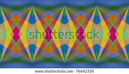 Colorful diamond abstract repeating background with dominant blue color