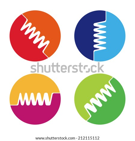 Digital Element Logo Abstract Round Logo Element