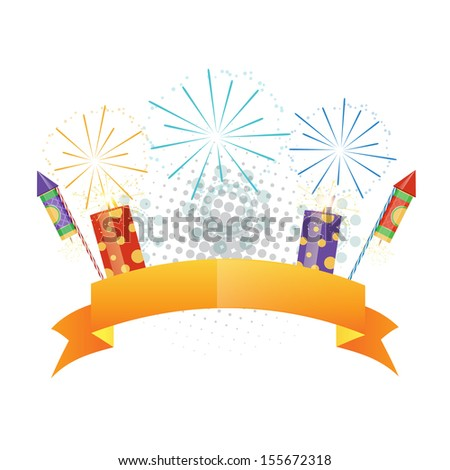 colorful diwali crackers design illustrations