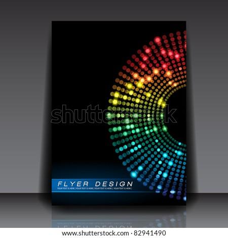 Colorful Dots Vector Flyer Design - EPS10 Background
