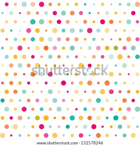 colorful dotted seamless pattern