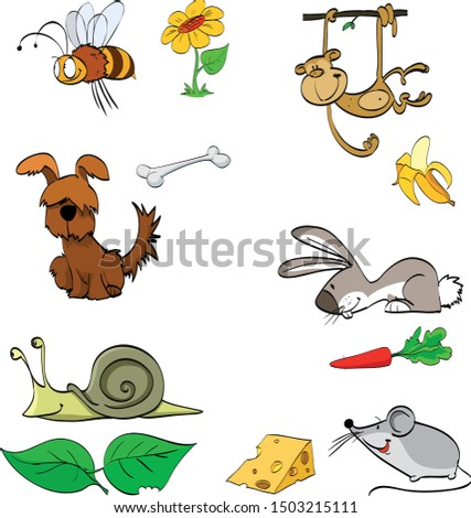 colorful drawing of animals and