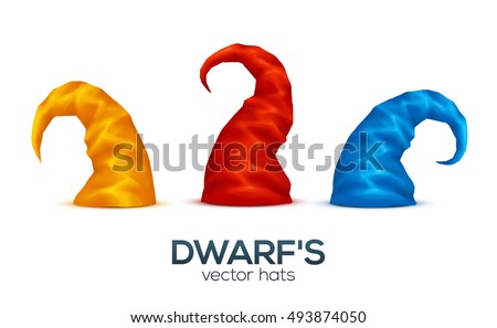 colorful dwarf's caps vector