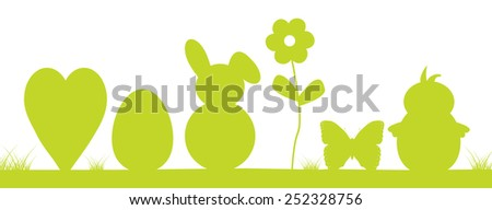 Colorful easter background, with easter bunny