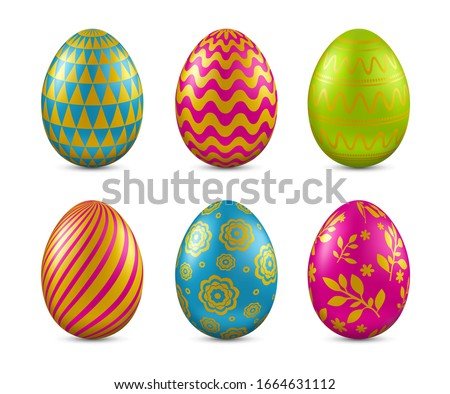 colorful easter egg with