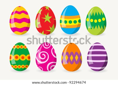 Colorful Easter Eggs #92294674