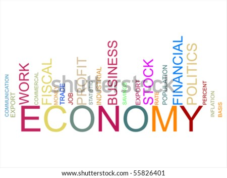 barcode vector. stock vector : colorful economy text arcode, vector