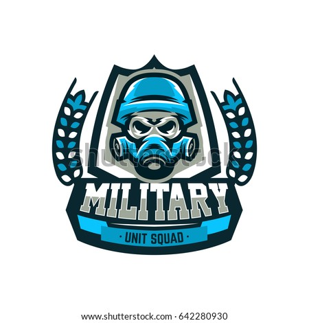 colorful emblem  logo  military