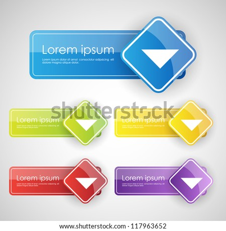 colorful empty buttons