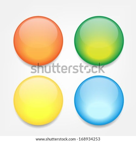 Colorful empty glossy icon