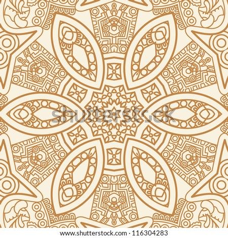 Colorful ethnicity square ornament, mosaic vector stained glass